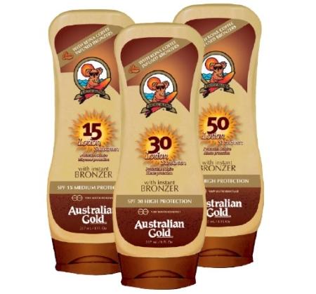 Australian Gold Lotion Sunscreen med selvbruner - Køb på dermalcare.dk